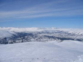 Svarthaugen i Oppdal sett fra Østfjellet